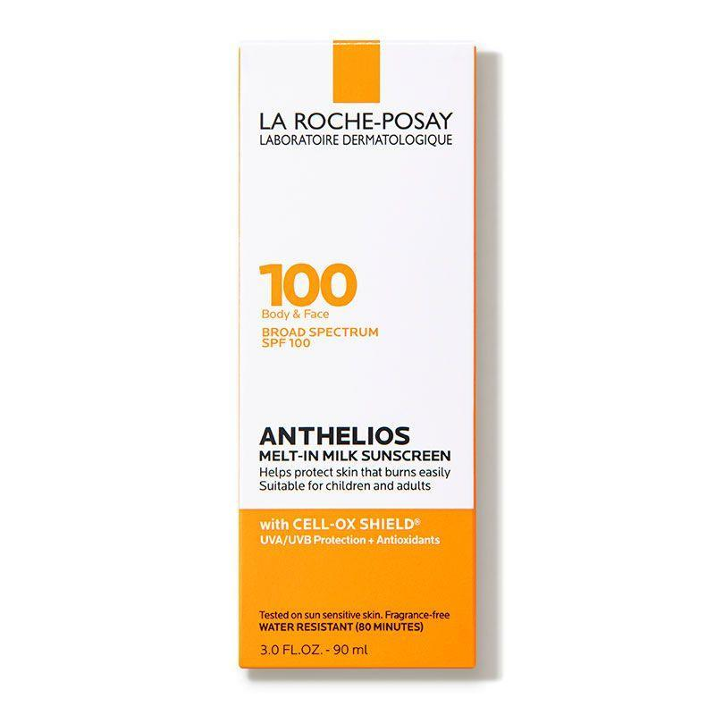 """<p><strong>La Roche-Posay</strong></p><p>amazon.com</p><p><strong>$24.99</strong></p><p><a href=""""https://www.amazon.com/Roche-Posay-Anthelios-Sunscreen-Oxybenzone-Sensitive/dp/B07YGVSGMW/?tag=syn-yahoo-20&ascsubtag=%5Bartid%7C10055.g.1288%5Bsrc%7Cyahoo-us"""" rel=""""nofollow noopener"""" target=""""_blank"""" data-ylk=""""slk:Shop Now"""" class=""""link rapid-noclick-resp"""">Shop Now</a></p><p>Several testers with darker skin tones <strong>rated this sunscreen high scores for not leaving a white cast</strong> on the skin in a recent test. It also earned high marks for not feeling oily or tacky, though some testers reported seeing seeing a slight sheen after use. Just note that one tester did report tearing up from the scent, though the brand claims that it is fragrance-free. </p>"""