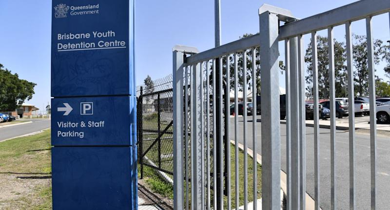 Pictured is the outside of the Brisbane Youth Detention Centre which has been identified as a coronavirus cluster.