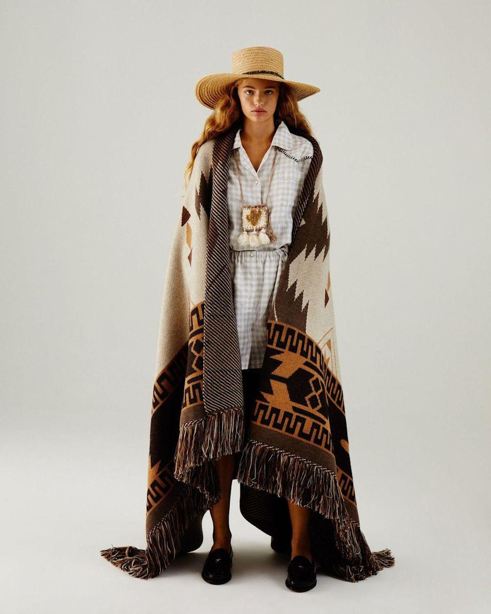 <p>Last season, Alanui offered up cool cashmere dresses and jumpers inspired by the night sky in American Frontier. Designers Nicolò and Carlotta Oddi continue this westward journey for spring 2021, but with a focus on the sun-kissed deserts and valleys in Arizona, Utah, and New Mexico. Aptly titled West is State of Mind, the collection features intarsia sweaters with Southwestern patterns, light-wash denim dresses and jackets, and cable-knit cardigans and dresses with ample amounts of fringe and lace-up details. —<em>Barry Samaha</em></p>