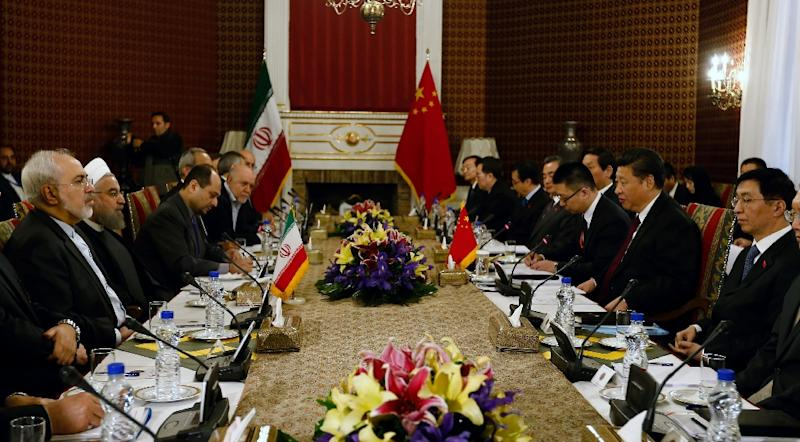 China and the Middle East's foremost Shiite power aim to build economic ties worth up to $600 billion within the next 10 years (AFP Photo/)