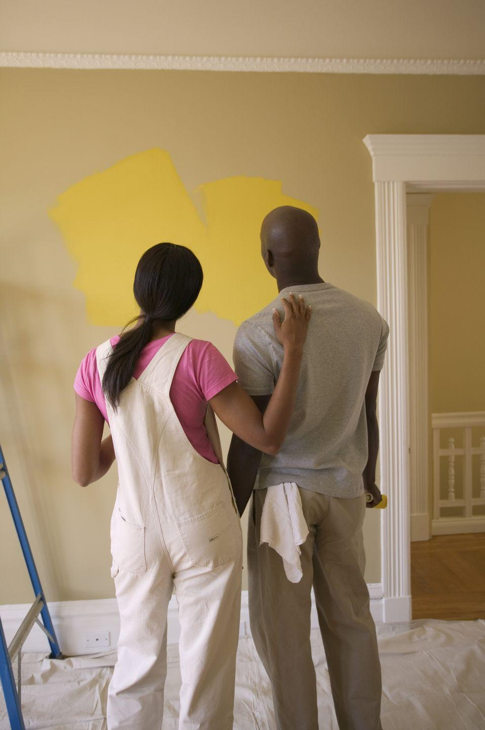 <p>Pick something you can accomplish in one session, such as painting an accent wall, rearranging furniture, or hanging new artwork or photographs.</p>