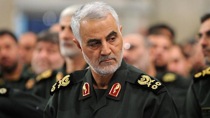 Iranian Quds Force commander Qassem Soleimani, pictured in 2016. (Photo: Pool/Press Office of Iranian Supreme Leader/Anadolu Agency/Getty Images)