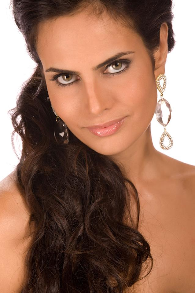 Larissa Costa, Miss Brazil 2009, competes for the title of Miss Universe 2009 during the 58th Annual Miss Universe competition from Atlantis Paradise Island, in Nassau, Bahamas.