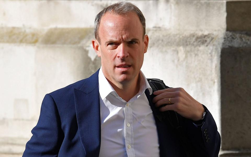 Dominic Raab condemned the GRU's 'cynical and reckless' actions - Toby Melville/ AFP
