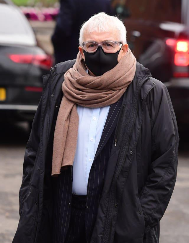 Christopher Biggins arrives at Golders Green Crematorium, north London, for the private funeral service of Dame Barbara Windsor