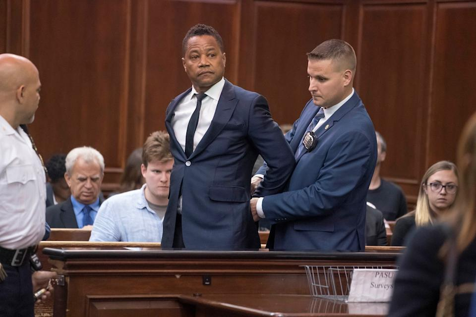 Actor Cuba Gooding Jr. appears at his arraignment hearing in New York State Criminal Court in the Manhattan borough of New York City, U.S., June 13, 2019.  Steven Hirsch/Pool via REUTERS