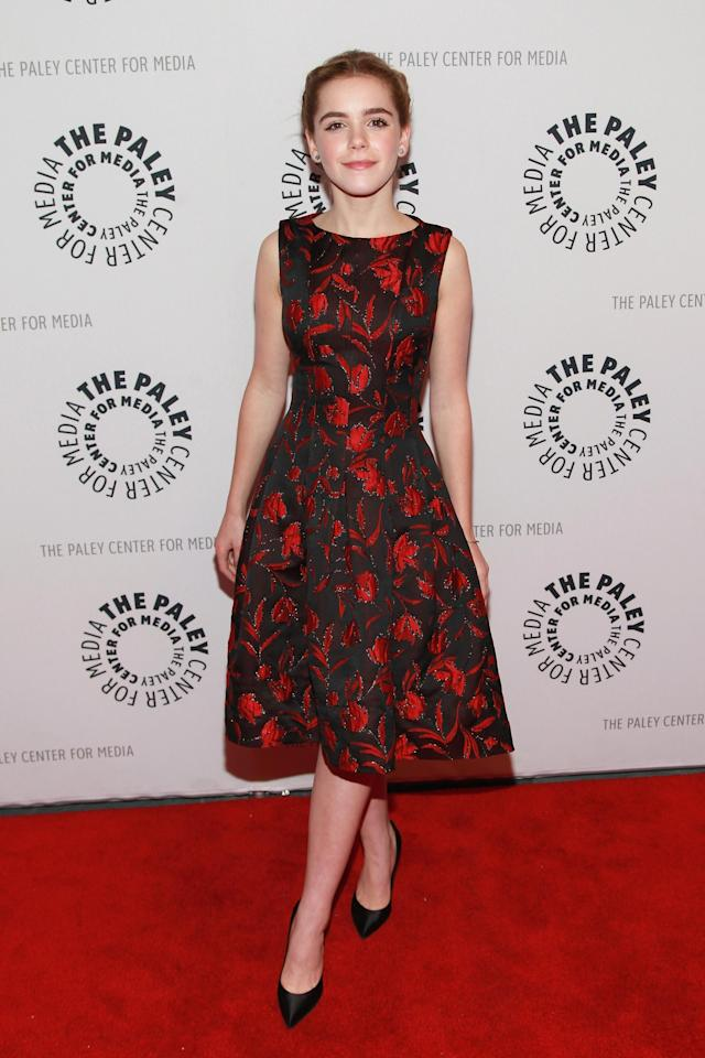 "NEW YORK, NY - APRIL 23: Actress Kiernan Shipka attends The Paley Center for Media presentation of ""Mad Men"" season 5 at The Paley Center for Media on April 23, 2013 in New York City. (Photo by Taylor Hill/Getty Images)"