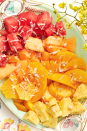 """<p>For a lighter option, brighten Mom's day with this colorful, coconut-topped fruit salad. Don't the colors look just like a sunrise?</p><p><a href=""""https://www.thepioneerwoman.com/food-cooking/recipes/a33407285/sunrise-fruit-salad-recipe/"""" rel=""""nofollow noopener"""" target=""""_blank"""" data-ylk=""""slk:Get the recipe."""" class=""""link rapid-noclick-resp""""><strong>Get the recipe.</strong></a></p><p><a class=""""link rapid-noclick-resp"""" href=""""https://go.redirectingat.com?id=74968X1596630&url=https%3A%2F%2Fwww.walmart.com%2Fbrowse%2Fhome%2Fserving-platters-trays%2Fthe-pioneer-woman%2F4044_623679_639999_2347672_7413764%2FYnJhbmQ6VGhlIFBpb25lZXIgV29tYW4ie&sref=https%3A%2F%2Fwww.thepioneerwoman.com%2Ffood-cooking%2Frecipes%2Fg36145857%2Fbreakfast-in-bed-recipes%2F"""" rel=""""nofollow noopener"""" target=""""_blank"""" data-ylk=""""slk:SHOP SERVING PLATTERS"""">SHOP SERVING PLATTERS</a></p>"""