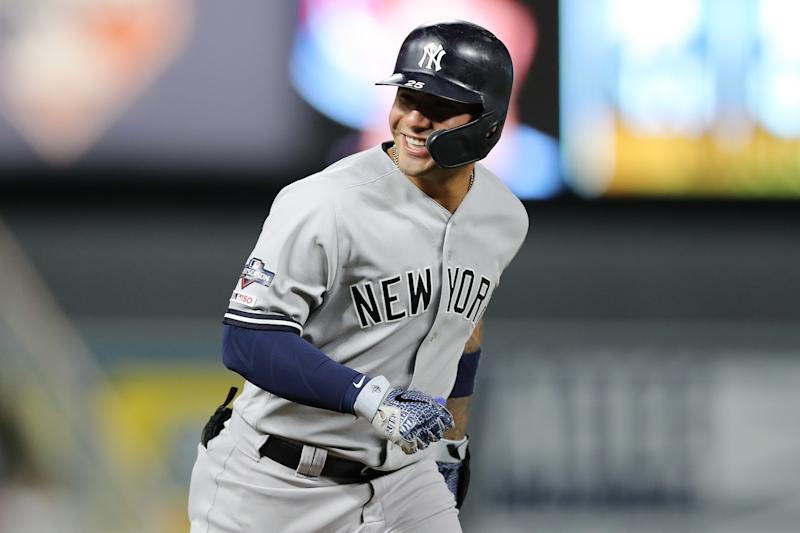 Gleyber Torres #25 of the New York Yankees