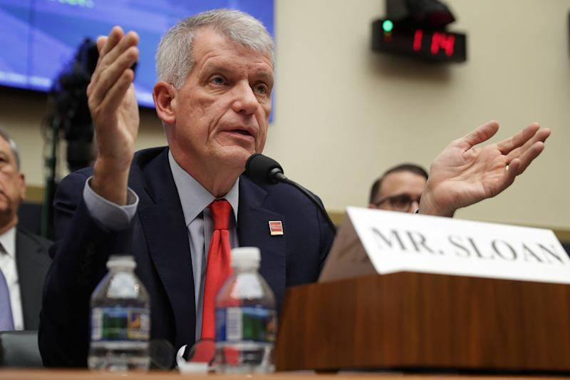 Wells Fargo and Company's former CEO Timothy Sloan has quit the banking giant. | Source: Chip Somodevilla/Getty Images/AFP