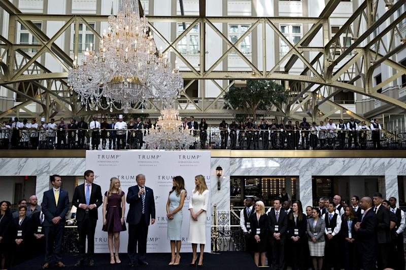 One provision of the bill would ban presidents from contracting with the government. This would prevent President Donald Trump from leasing government property for his Washington, D.C., hotel. (Bloomberg via Getty Images)
