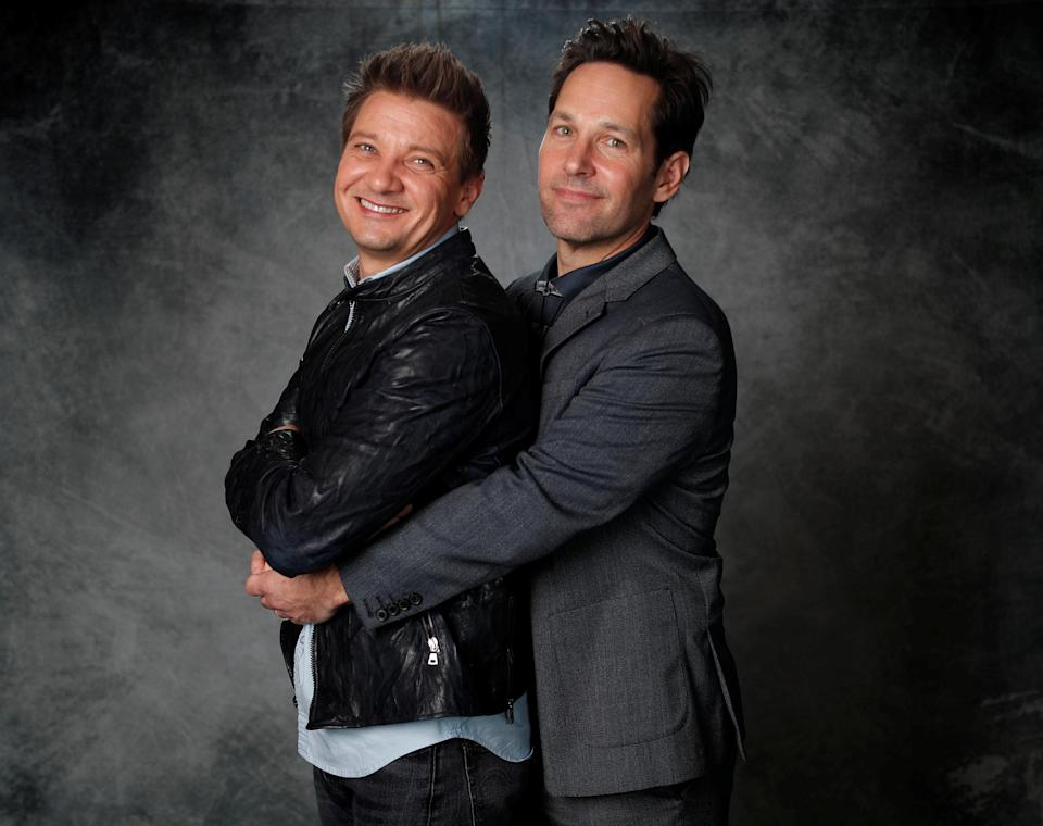 Jeremy Renner and Paul Rudd pose for a portrait (Credit: REUTERS/Mario Anzuoni)