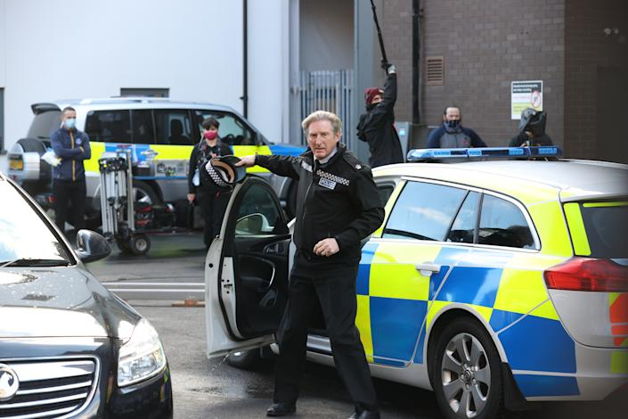 Adrian Dunbar on the set of the sixth series of 'Line of Duty' in Belfast. (Photo by Liam McBurney/PA Images via Getty Images)