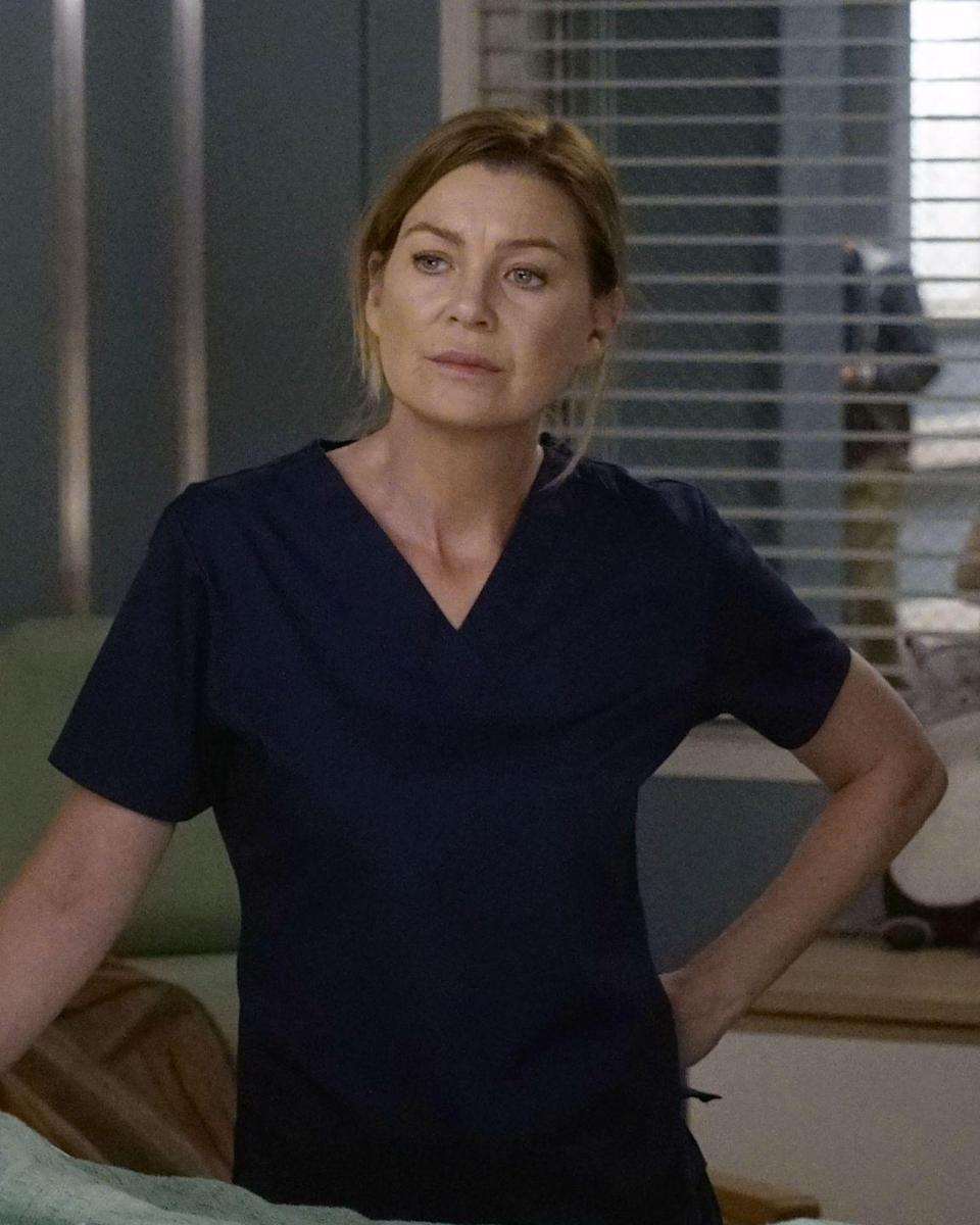 <p>Pompeo is still going strong more than a decade and a half into her time as Meredith. Here she is in character in season 16. </p>