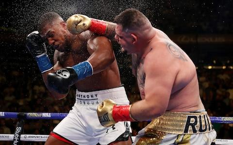Anthony Joshua and Andy Ruiz Jr - Tyson Fury trainer Ben Davison: It all boils down to game plans at this level – it's my job to be a wise head - Credit: Getty Images