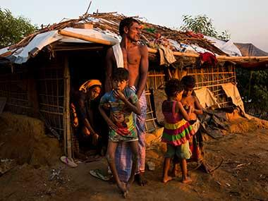 Panic grips Rohingya refugees on Bangladesh border amid heavy fighting between Myanmar troops, Rakhine rebels