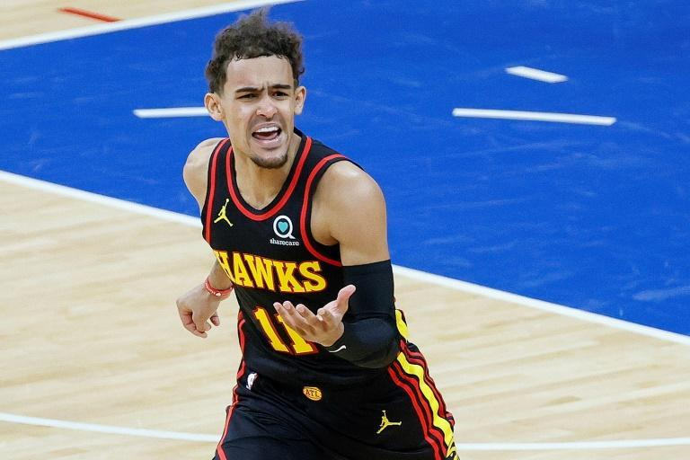 Trae Young scored 35 points to lead the visiting Atlanta Hawks over Philadelphia in an NBA playoff game on Sunday