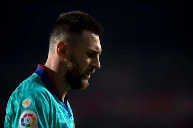 Lionel Messi has yet to start a game for Barcelona this season after struggling with a calf injury (AFP Photo/JORGE GUERRERO)