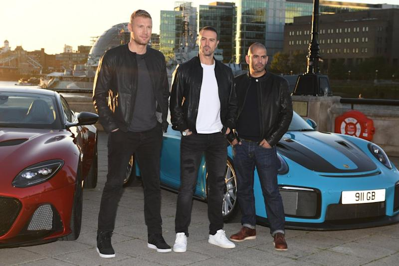 Trio: Paddy McGuinness, Freddie Flintoff and Chris Harris will front Top Gear from 2019 (Jeremy Selwyn)