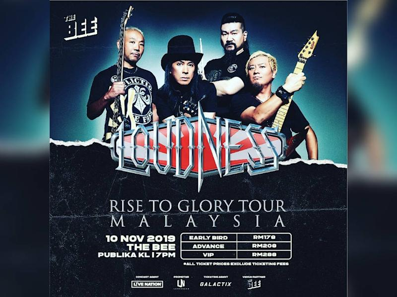 Loudness returns to rock Malaysia this November.