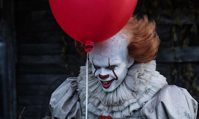 Bill Skarsgård as Pennywise in <em> It</em>. (Photo: Warner Bros.)