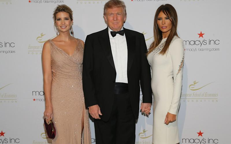 Ivanka with her father President Donald Trump and First Lady Melania - Credit: Neilson Barnard/Getty Images North America