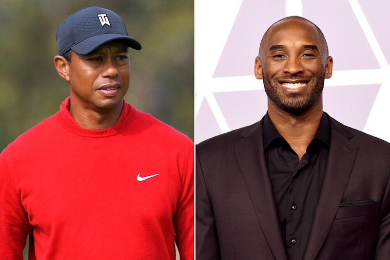Tiger Woods and Kobe Bryant | Ben Jared/PGA TOUR/Getty; Kevin Winter/Getty