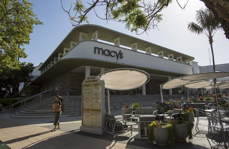 An exterior of a Macy's store in Pasadena