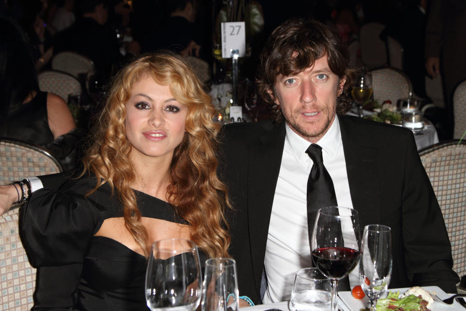 MIAMI BEACH, FL - FEBRUARY 27: Paulina Rubio and Nicolas Colate Vallejo-Najera attend the 15th Anniversary of The Blacks Annual Gala benefiting The Consequences Charity, Project Medishare, Educate Tomorrow and I have a Dream at Fontainebleau Miami Beach on February 27, 2010 in Miami Beach, Florida. (Photo by Alexander Tamargo/Getty Images)