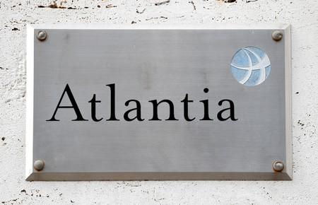 FILE PHOTO: A logo of the Atlantia Group is seen outside their headquarters in Rome