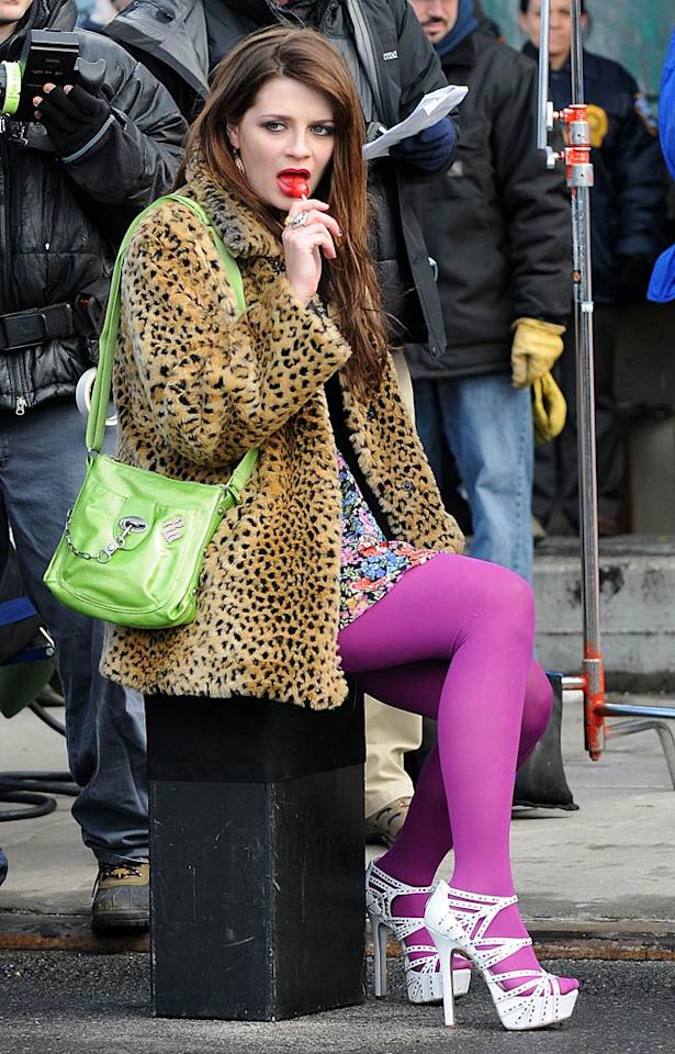 "Mischa Barton plays a prostitute while the cameras roll on the New York set of the hit drama ""Law & Order: SVU."" 893/<a href=""http://www.splashnewsonline.com"" target=""new"">Splash News</a> - January 18, 2010"