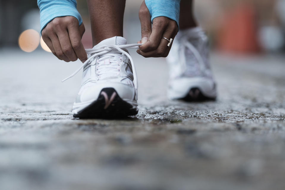 Combat foot pain with targeted insoles. (Getty Images)