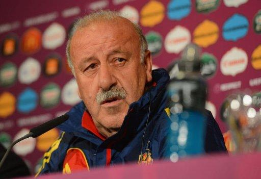 Spanish headcoach Vicente Del Bosque