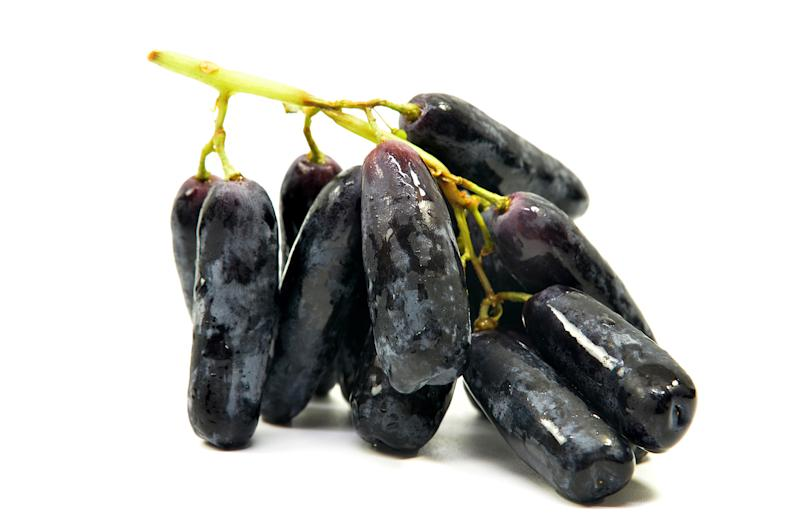 Moon Drop grapes on white background