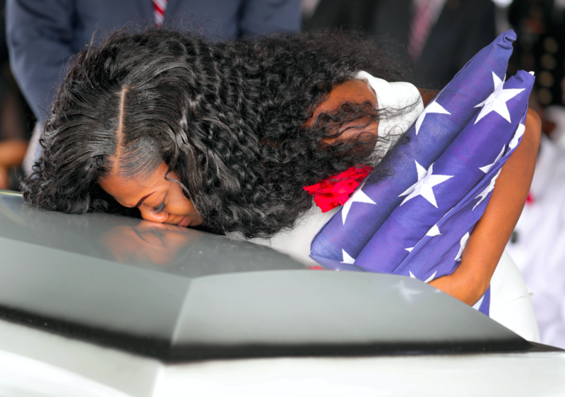Trump Sinks Even Lower By Attacking Grieving Army Widow Myeshia Johnson
