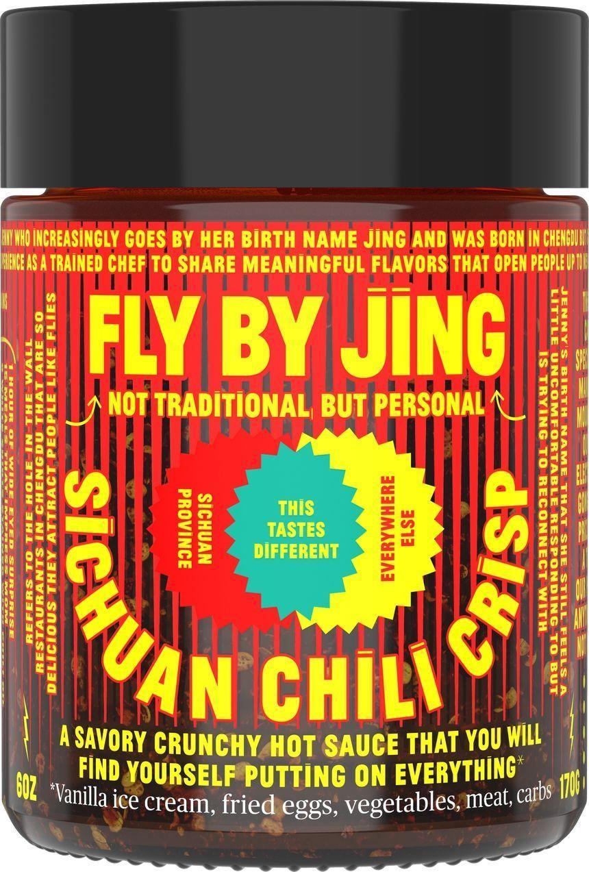 """<p><strong>Fly By Jing</strong></p><p>Fly By Jing</p><p><strong>$15.00</strong></p><p><a href=""""https://flybyjing.com/shop/sichuan-chili-crisp"""" rel=""""nofollow noopener"""" target=""""_blank"""" data-ylk=""""slk:Shop Now"""" class=""""link rapid-noclick-resp"""">Shop Now</a></p><p>This sauce is like the flashier, younger cousin of Lao Gan Ma. Per the name, the flavor profile is decidedly more Sichuanese with numbing peppercorns and toasted anise.</p>"""