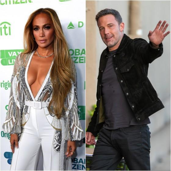 A diptych of Jennifer Lopez and Ben Affleck. Credit: Kevin Mazur/Getty Images; RB/Bauer-Griffin/GC Images