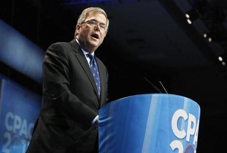 Bush delivers remarks to the Conservative Political Action Conference (CPAC) in National Harbor, Maryland