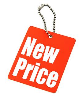 New Price Red Tag