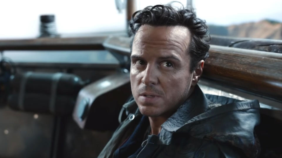 Andrew Scott as Colonel John Parry in 'His Dark Materials'. (Credit: BBC/HBO)