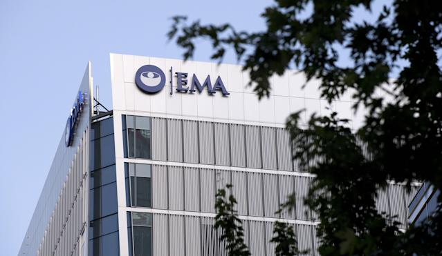The UK office of the EMA (European Medicines Agency) in Canary Wharf, London. (Reuters)