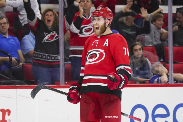 Jaccob Slavin is just one of a group of under-rostered Canes who deserve more attention. Mandatory Credit: James Guillory-USA TODAY Sports