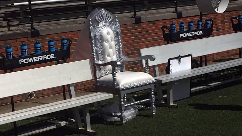 The Boise State football team replaced its turnover belt with a Turnover Throne on its sideline Saturday in a 56-20 victory over Troy at Veterans Memorial Stadium in Troy, Alabama.
