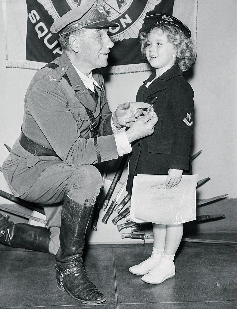 <p>In 1935, a 7-year-old Shirley received an honorary colonel title from the American Legion. The A-list tot wore her best military wear for the ceremony. </p>