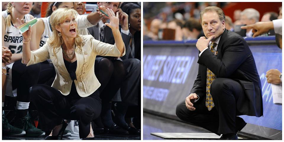 Suzy Merchant and Tom Izzo's Michigan State basketball teams both had games scheduled for Thursday postponed Wednesday night due to COVID-19 issues within their programs.
