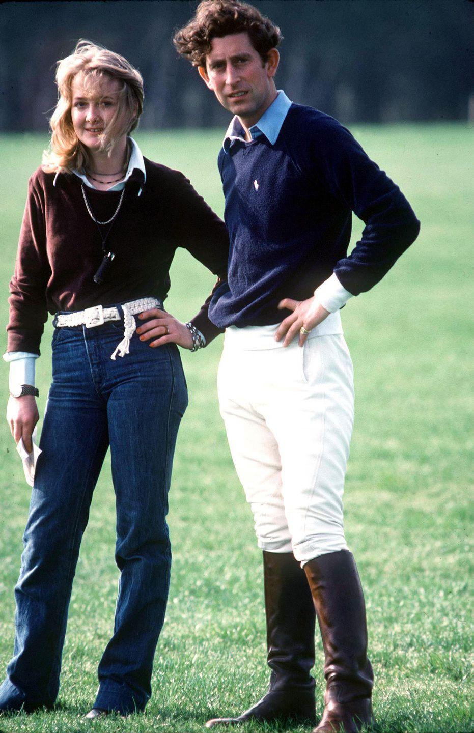 <p>Standing with Jane Ward at Smith's Lawn Polo Grounds in Windsor before a match. </p>