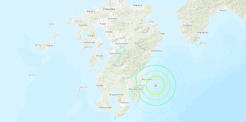 A 6.3 earthquake has struck the coast of Japan. Source: USGS