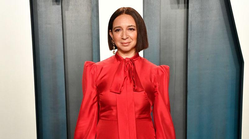 Maya Rudolph attends the 2020 Vanity Fair Oscar Party hosted by Radhika Jones on February 09, 2020 in Beverly Hills, California.