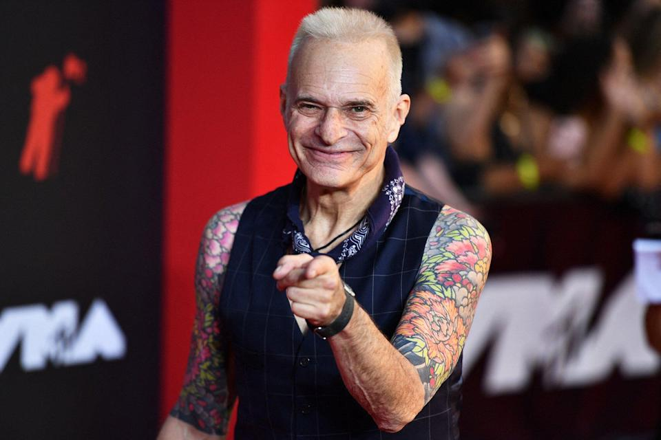 David Lee Roth arrives for the 2021 MTV Video Music Awards at Barclays Center in Brooklyn, New York, September 12, 2021.
