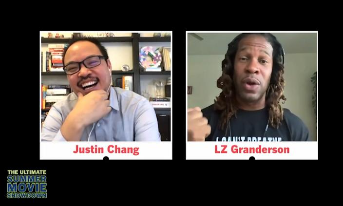 """Week nine of the Ultimate Summer Movie Showdown on July 9, 2020 featured Los Angeles Times film critic Justin Chang and sports and culture columnist LZ Granderson discussing """"Do The Right Thing."""" <span class=""""copyright"""">(Ken Kwok/Los Angeles Times)</span>"""